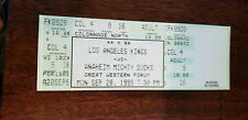 1999-00 LOS ANGELES KINGS LAST GAME PLAYED AT THE FORUM FULL TICKET VS DUCKS