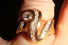 Ladies 14K yellow gold Custom designed Diamond ring size 7 1/4