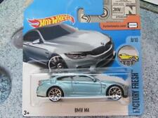 HOT WHEELS 2017 #154/365 BMW M4 BLEU ACIER USINE FRAIS