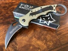 Fox Knives Karambit with Emerson Wave Black Blade N690Co OD Green G10 599OD