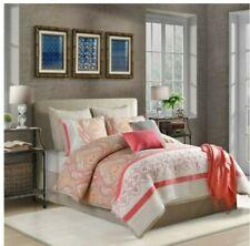 Bridge Street Kora 7-Piece Full Comforter Set in Coral
