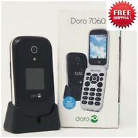"Doro 7060 4G 2.8"" - Black - Flip Camera Mobile Phone - New Condition - Unlocked"