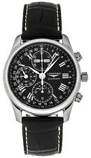 Longines Master Collection Mens Watch Black Dial Leather L2.673.4.51.7 40 Mm