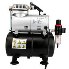 Airbrush Kompressor Lufttank Wasserabscheider Druckminderer Manometer 1/6 PS NEU