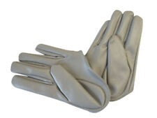 Ladies/Womens Half Palm PU Leather Gloves - Grey