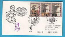 FDC BUSTA PRIMO GIORNO VENETIA 1992 SAN MARINO PIERO DELLA FRANCESCA NATALE 3 V