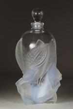 Vintage LARGE Lalique Scent Perfume Bottle Lady Faries Les Elfes Flacon c2002
