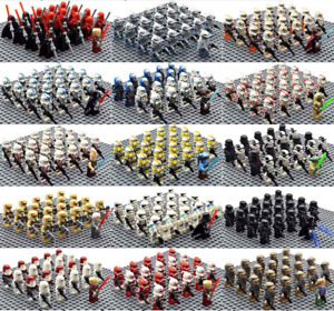 21pcs lot minifigures Star Wars 501st TROOPER clone Trooper Printed Custom MOC