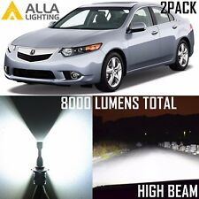 Alla Lighting LED High Beam Bulbs Headlight 9005 Headlamp White Lamp for Acura