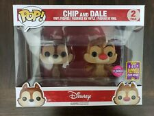 Disney Funko Pop SDCC Flocked Chip and Dale exclusive 2 pack. 2017 comicon
