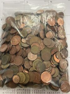 5 Pound Lot of Great Britain & Germany Coins Photo of Coins You Will Get (003)