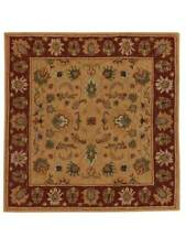Hand-Tufted Classic Floral Square 10x10 Oushak Oriental Area Rug Carpet Wool