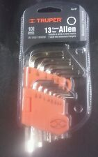 "TRUPER ALL-13P 13 KEYS ALLEN STANDAR 3/64"" TO 3/8"""