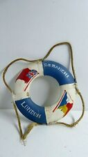 SS RANCHI STEAM SHIP SHIPPING LINER SOUVENIR LIFE BUOY RING WOODEN FRAME VINTAGE