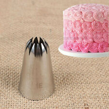 1X Large Size Metal Cream Tips Stainless Steel Piping Icing Nozzle Pastry Tool