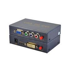 Analog VGA + YPbPr to DVI Digital Video Converter Adapter For HD HDTV 1080P