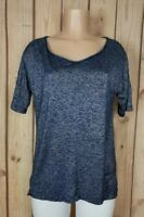 WHITE HOUSE BLACK MARKET Womens Size XS Short Sleeve Shirt Space Dyed Blue Top