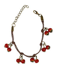 Cherry Cherries Fashion Bracelet Womens Vintage Looking Ladies Theme