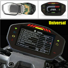 Universal LED Speedometer LCD Digital Odometer Guage For 2.4 Cylinder Motorcycle