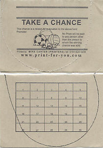 50 Tickets - Spot the Ball - 30 Spaces - Take a Chance Ticket - for Fundraising