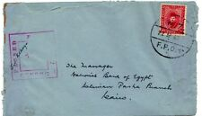 EGYPT-NEW ZEALAND 1940 N.Z. FIELD POST OFFICE 22.AP.40 TO CAIRO BRITISH M.P.O.