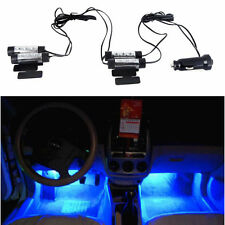 4x LED BLUE Neon Light Bulb FOR Car Interior Decoration&1x Cigarette Lighter 12V