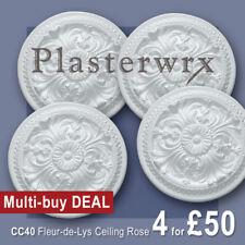 Fleur De Lys Ceiling Rose 355mm dia by Plasterwrx X 4 MULTI-BUY