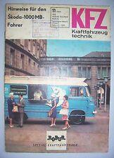 DDR Zeitschrift KFZ Kraftfahrzeugtechnik 11 / 1966 Robur Spezial Kraftfahrzeuge
