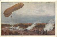 German Dirigible Military Balloon Hans Rudolph Schulze c1910 Postcard