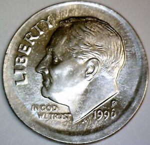 1996 Error LARGE BROADSTRUCK Roosevelt Dime CH BU CENT SIZE BS Coin LOT #1  NR