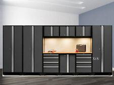 Steel Garage Cabinet Set Storage Shelves Cupboards Work Shop Tool Box Locker