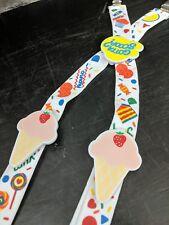 Toddlers Little Kid's ice cream strawberries Suspenders Clip On adjustable