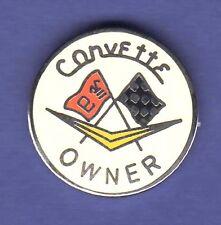 CORVETTE OWNER HAT PIN LAPEL PIN TIE TAC ENAMEL BADGE #0946