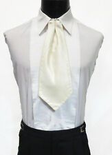 Gentlemen's Ivory Ascot / Cravat Tie Victorian Theater Edwardian Morning Dress