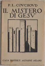 COUCHOUD IL MISTERO DI GESU COMPLETO 1926 PRIMA EDIZIONE APOCALISSE PAOLO