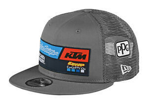Troy Lee Designs 2020 Team KTM 4WP 9Fifty Snapback Hat OSFA - Gray