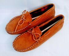 Minnetonka 773 Double Bottom Fleece Moccasin Slipper - Men's Size 9 - Brown