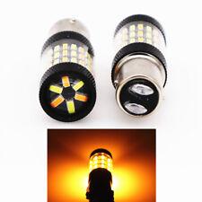 Pair White/Amber Switchback LED bulb 600LM 6500-8000K DRL/Turn Light 60SMD 4014