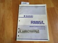 2004 SUZUKI RM85 / L Owner Owners Owner's Service Manual