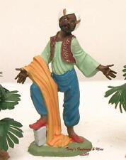 "Fontanini Depose Italy 4"" Color Black Man w/Drape Nativity Village Figure New"