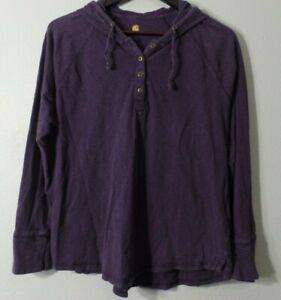 CARHARTT FORCE Purple Lightweight Stretchy Hoodie Shirt Pullover Sz L 12-14 CUTE