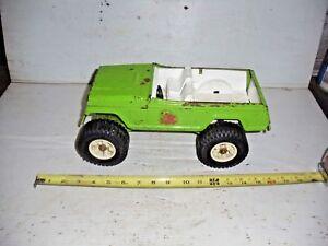 Old Vintage Metal 1960's Tonka Jeep Stump Jumper Green  49250