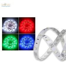 5m RGB SMD LED Stripe flexibel, Platine weiß, rot grün blau Lichtband Leiste 12V