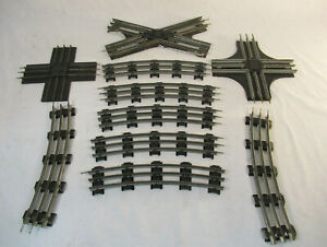Assortment of O-Scale Lionel Track and Crossings