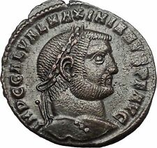 Galerius 308AD Large Rare Authentic Ancient Roman Coin Genius Cult i54464