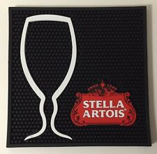 "Stella Artois Chalice Bar Mat ~ 2017 Style ~ 12"" x 12"" Square ~ NEW & Free Ship"