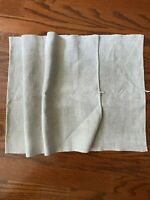"Antique French Linen Grain Sack Oatmeal Off White 19"" X 48"" from 1900-1910"