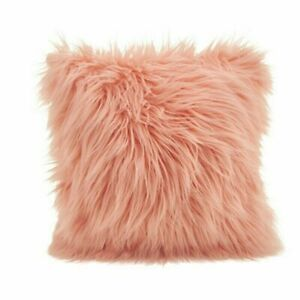 Cushion Cover Hairy Soft Throw Pillowcase Washable Square Solid Pillow Case 45cm