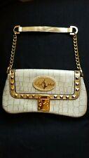 NEW.CUTE. Whit off&Gold  Shoulder Bag Purse Clutch Croce Print Studs Chan