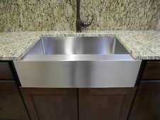 "Auric 36"" Farmhouse Flat Front Apron Single Bowl Premium Stainless Steel Sink"